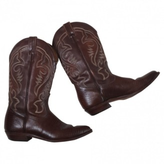 Non Signé / Unsigned Non Signe / Unsigned Brown Leather Boots