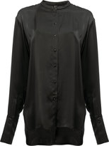 Ilaria Nistri collarless shirt - women - Viscose - 42
