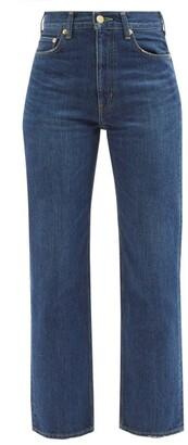 Tu Es Mon Tresor - Emerald High-rise Straight-leg Jeans - Dark Denim