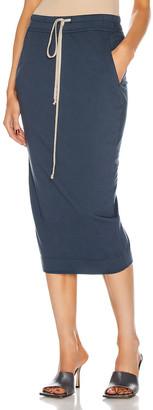 Rick Owens Soft Pillar Short Skirt in Mute   FWRD