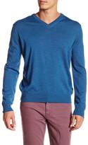 Thomas Dean V-Neck Wool Sweater