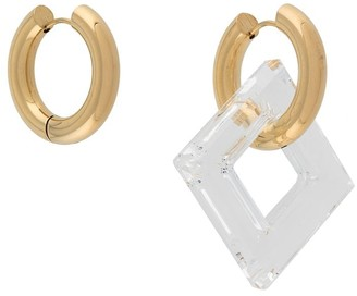Timeless Pearly Crystal Square Earrings
