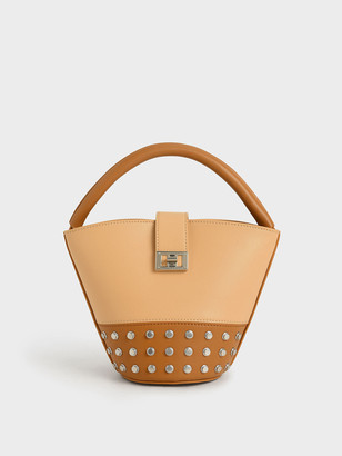 Charles & Keith Studded Bucket Bag