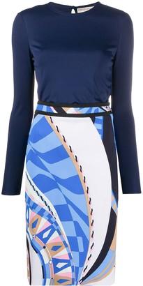 Emilio Pucci Geometric Print Fitted Dress