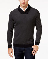 Tasso Elba Men's Big and Tall Shawl-Collar Sweater, Only at Macy's