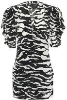 Isabel Marant Farah stretch-silk minidress