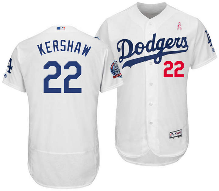 Majestic Men Clayton Kershaw Los Angeles Dodgers Mother Day Flexbase Jersey
