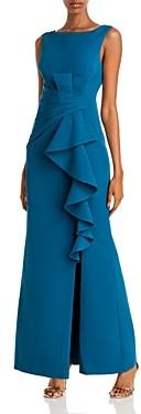 Eliza J Cascading Ruffle Gown