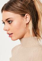 Missguided Gold 3 Pack Hoop Earrings