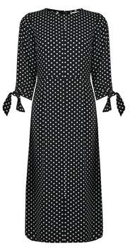 Dorothy Perkins Womens Petite Monochrome Spot Print Midi Shift Dress