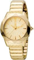 Just Cavalli 35mm Rock Sangallo Bracelet Watch, Yellow Golden