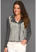 Rebecca Taylor - Tweed Moto Jacket (Black/White) - Apparel