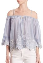 Love Sam Camille Off-The-Shoulder Blouse