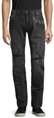 Cult of Individuality Rocker Slim-Fit Distressed Jeans