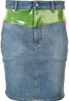 Jeremy Scott panelled denim skirt - women - Cotton/other fibers - 40