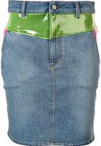 Jeremy Scott panelled denim skirt
