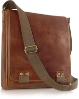 Chiarugi Handmade Brown Genuine Leather Crossbody Bag
