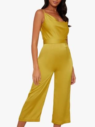 Chi Chi London Yana Sleeveless Jumpsuit, Mustard