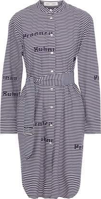 Proenza Schouler Pswl Belted Printed Cotton-poplin Shirt Dress