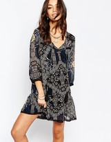 Only Tassle Front Patch Print Dress