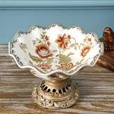 The Golen Apple Pattern Ceramics Fruit Sala Tray Plates