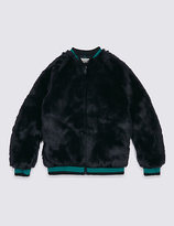 Marks and Spencer Faux Fur Bomber Jacket (3-14 Years)