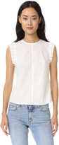 Rebecca Taylor Poplin Button Back Top