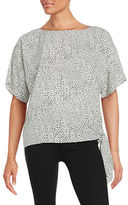 MICHAEL Michael Kors Side Tie Accented Top