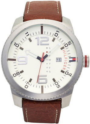 Tommy Hilfiger Casual Sport Leather Watch, 50mm