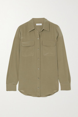 Equipment Washed-silk Shirt - Green