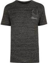 River Island MensGrey always present print t-shirt