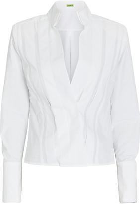 GAUGE81 Crete Pleated Poplin Wrap Shirt