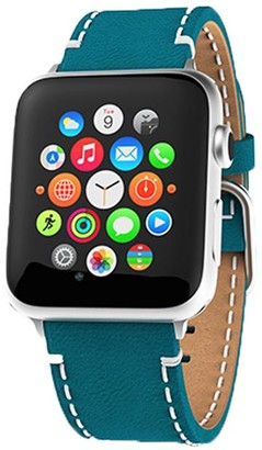Victoria Emerson Turquoise Leather Apple Watch Band