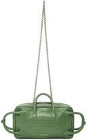 Dheygere Green Python Multi Strap Duffle Bag