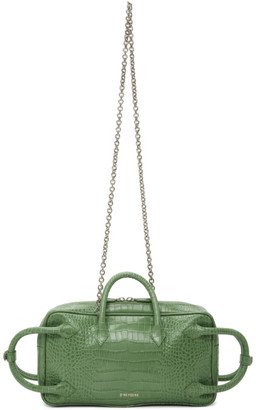 Dheygere Green Python Multi Strap Duffle Bag