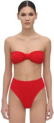 Hunza G Posey Seersucker High Waist Bikini Set