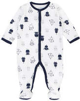 Petit Lem Essentials Robot-Print Footed Sleeper