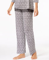Ellen Tracy Diamond-Print Pajama Pants