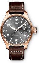 IWC Men's Pilots 46mm Brown Leather Band 18K Rose Gold Plated Case Automatic Grey Dial Watch IW500917