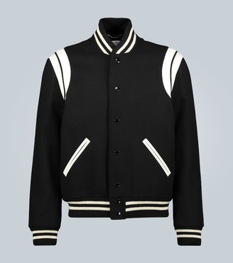 Saint Laurent Teddy varsity jacket