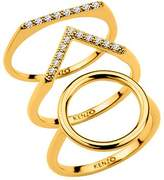 Kenzo 24909010805 Gold Plated And CZ Ring