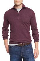 Brunello Cucinelli Solomeo Wool-Blend Polo Sweater, Maroon