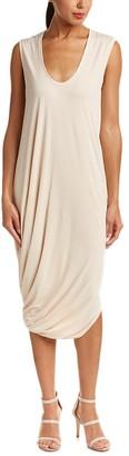 BCBGMAXAZRIA Azria Women's BRE Asymmetric Sleeveless Knit Casual Dress