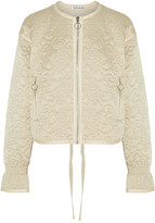 Elizabeth and James Daisy Quilted Silk-satin Jacket - Cream