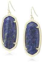 Kendra Scott Signature Elle Earrings in Gold Plated and Raw Cut Lapis