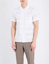 Camoshita Regular-fit striped cotton-blend shirt