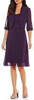 Le Bos Glitter Trim 2-Piece Jacket Dress