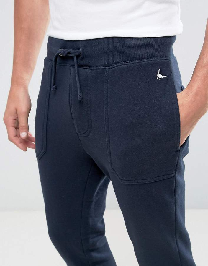 Jack Wills Barnaby Tapered Fit Sweat Joggers In Navy