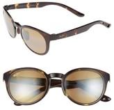 Maui Jim Women's Keanae 49Mm Polarized Sunglasses - Black And Grey Tortoise/ Grey