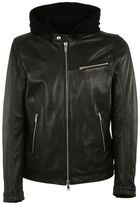 Dondup Hooded Biker Jacket